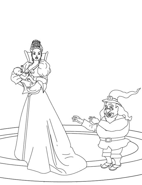 coloring pages rumpelstiltskin trying to take away the