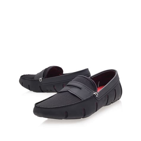 swims loafer black swims loafer in black for lyst