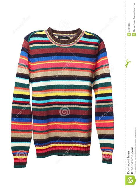 Gate Of Time Colour Sweater multicolored knitted sweather for stock photo image