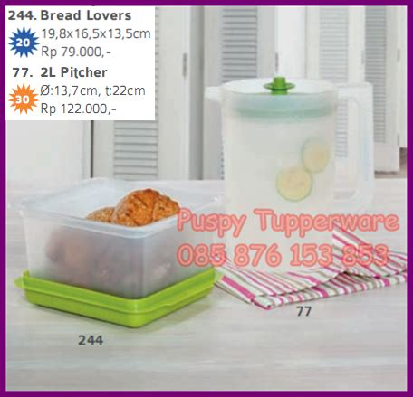 Tupperware Bread Lover puspy tupperware bread