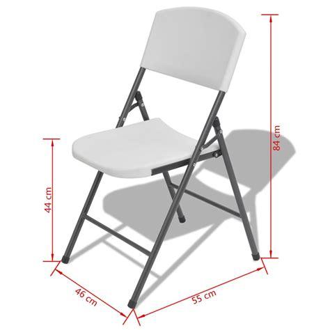 sedie da giardino pieghevoli vidaxl sedie da giardino pieghevoli 4 pz in hdpe bianco