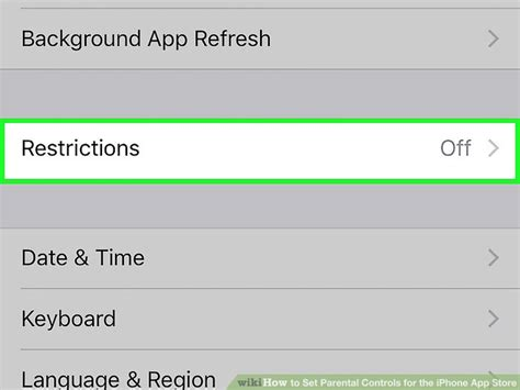 Iphone Parental Controls How To Set Parental Controls For The Iphone App Store 8 Steps