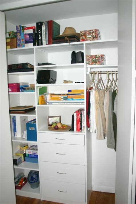 small storage closet small closet organizer for the home pinterest