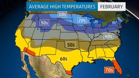 extended weather map usa monthly average temperatures weather