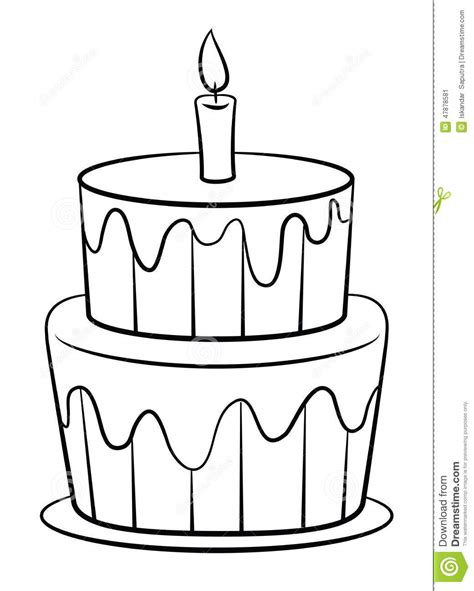 clipart compleanno bambini torta di compleanno illustrazione vettoriale