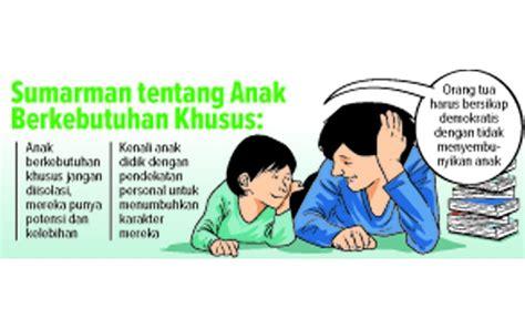 Penyelenggaraan Sekolah Untuk Anak Berkebutuhan Khusus sumarman 33 tahun mendidik siswa tunarungu teliti komunikasi dua tuna