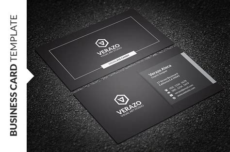 modern black white business card business card