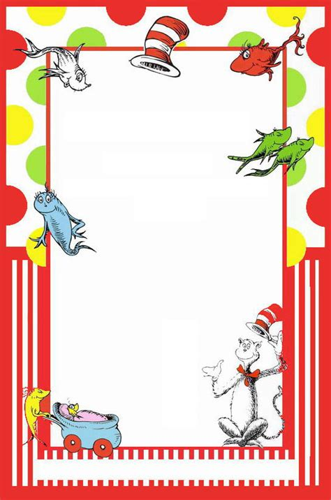 dr seuss invitation template printable dr seuss border www imgkid the image kid