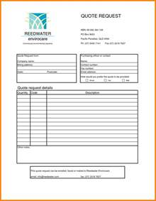 Request For Quotation Template by 6 Request For Quotation Exle Forklift Resume