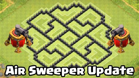 coc th8 layout with air sweeper clash of clans air sweeper th8 defense strategy best coc