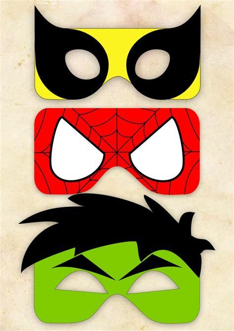 printable super heroes mask superhero mask cut out 2 wolverine spiderman hulk