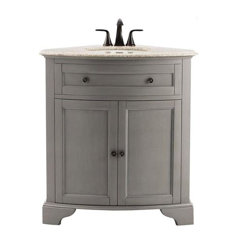 Corner Vanity Canada by Bramerton 31 In Vanity In Espresso With Granite