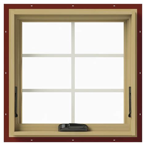 Jeld Wen Awning Windows by Jeld Wen 24 In X 24 In W 2500 Awning Aluminum Clad Wood