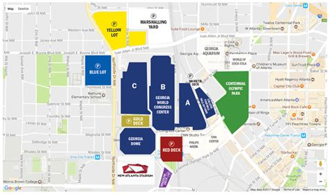 georgia world congress center floor plan graduation parking directions