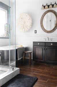 wood floor in bathroom final master bathroom pics creativehomebody