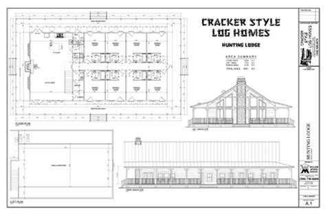 hunting lodge house plans cracker style log homes