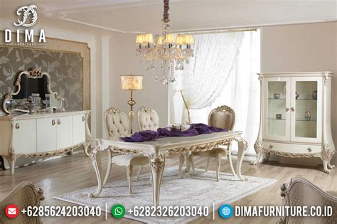 Keranjang Sah set meja makan mewah ukiran jepara terbaru duco ivory silver sah yemek df 0380 dima furniture