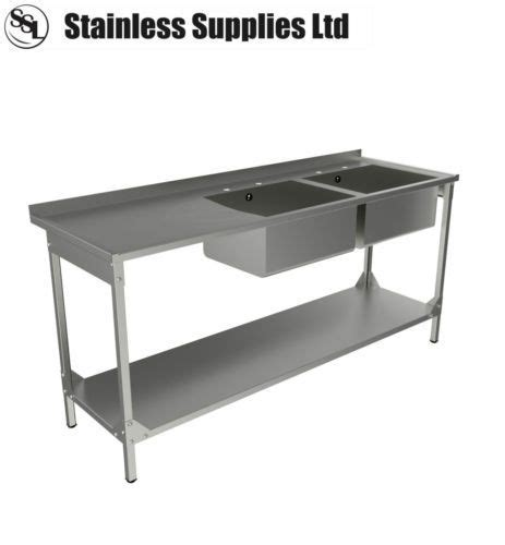stainless steel commercial catering kitchen sink 1800mm