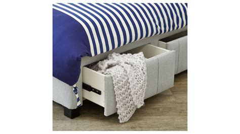 king single bed with storage drawers buy jett king single bedhead with storage drawer base