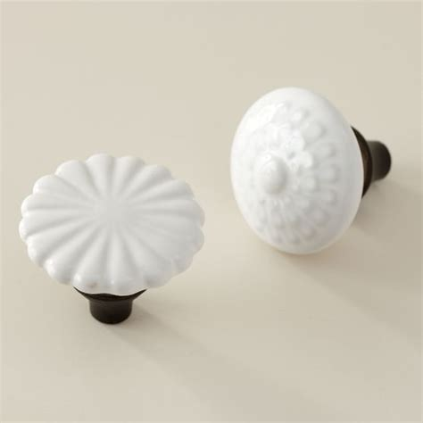 Ceramic Flower Knobs by Eclectic Ceramic Flower Knobs Pbteen
