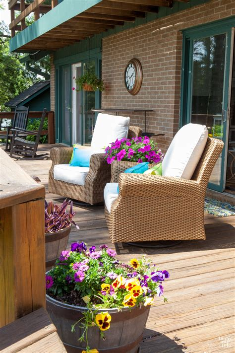 My Outdoor Living Room With Wayfair In My Own Style Broyhill Wicker Planter