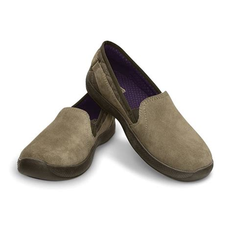 loafer crocs anyweather suede loafer crocs khaki mulberry inavigate ca