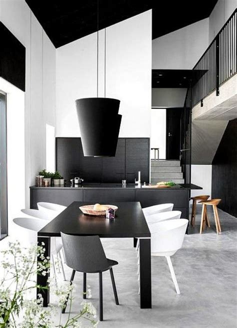 black and white dining rooms black and white dining room