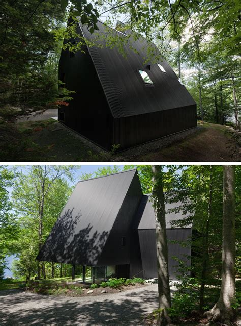 Contemporary Cabin this contemporary cabin is surrounded by a hemlock forest