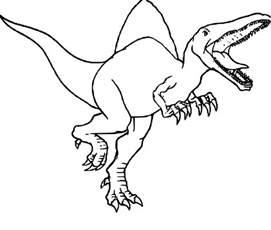 coloriage dinosaure jurassic park 224 imprimer sur coloriages