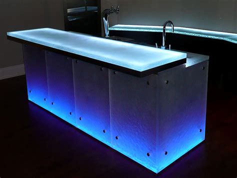 Lighted Bar Tops by Glass Bar Tops Cgd Glass Countertops