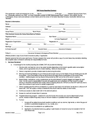 Full Time Horse Lease Agreement Forms And Templates Fillable Printable Sles For Pdf Word Boarding Contract Template