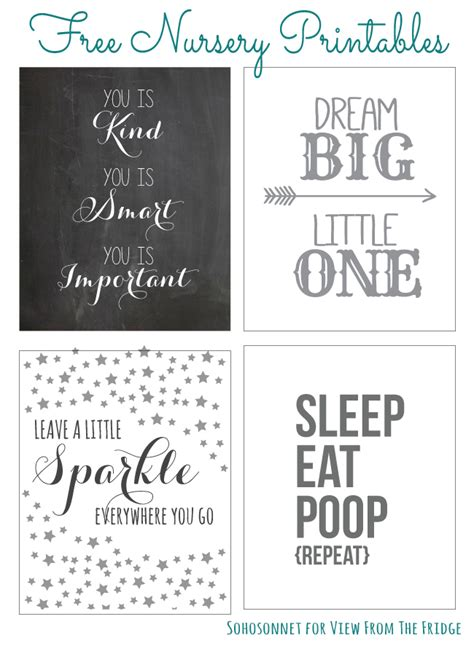 free printable nursery quotes free nursery printables sohosonnet guest post view