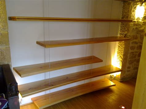 Reclaimed Wood Bookcase Etagere Suspendue Cable Palzon Com