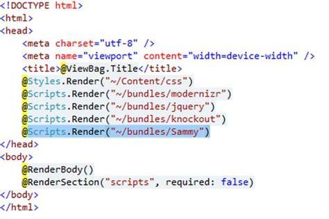 mvc layout page javascript single page application in mvc 4 application using sammy js