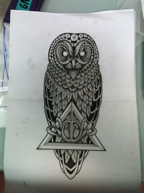 harry potter owl tattoo one of the most badass harry potter tattoos i ve seen