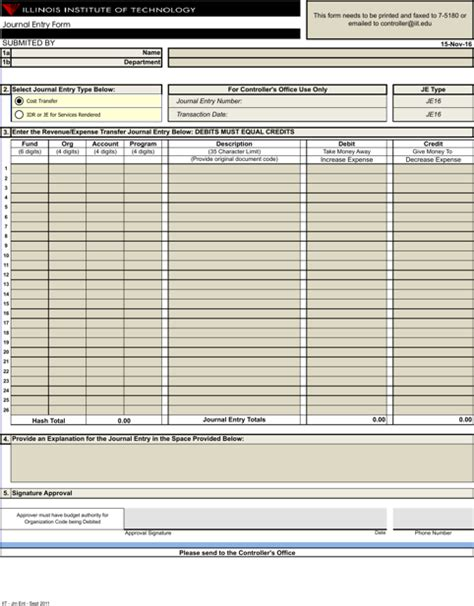 Journal Entry Template Excel by 5 Excel Journal Templates For Free Formtemplate