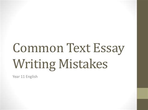 Learning From Your Mistakes Essay by Common Essay Writing Mistakes