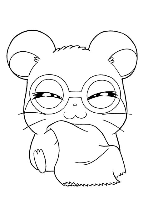 coloring page hamtaro coloring pages 137