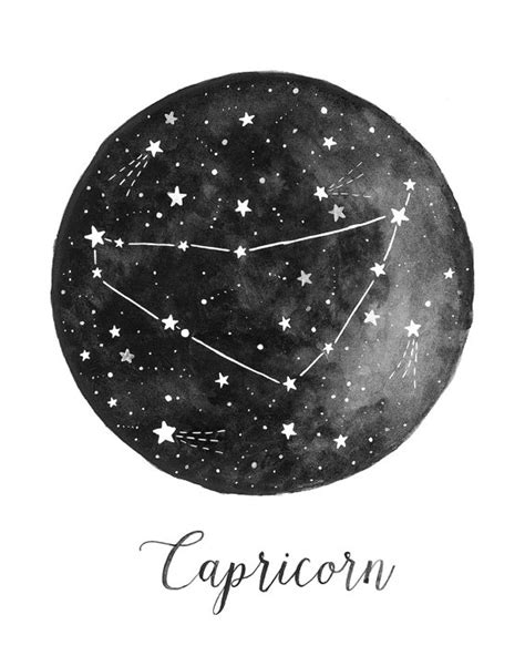 capricorn constellation illustration vertical