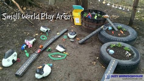 Backyard Play Area Ideas Outdoor Small World Play Area Suzy Homeschooler
