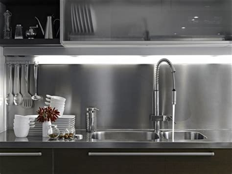 Stainless Steel Backsplash Kitchen stainless steel kitchen back splash metal supermarkets