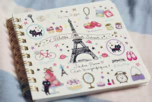 doodle notebook ideas book cats drawings eiffeltower image 362155 on