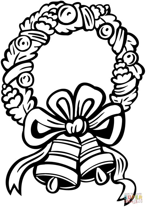 Coloring Pages Fir Branch Christmas Wreath Coloring Page Wreath Coloring Page Shapes Worksheet