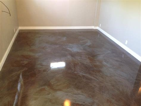 metallic epoxy flooring option home ideas collection
