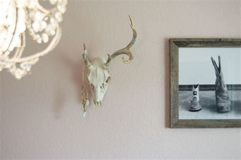 spray paint european mount diy painted antler european mount antler and gold flake