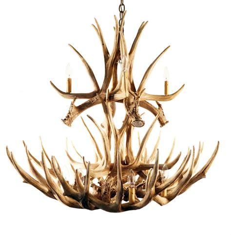 Deer Horn Chandelier Antler Chandeliers Mule Deer 16 Cast Antler Chandelier Rustic Lighting And Decor From