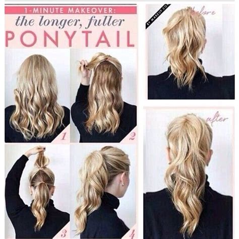 Hairstyles That Make Your Hair Look Longer by Make Your Ponytail Look Longer And Fuller Trusper