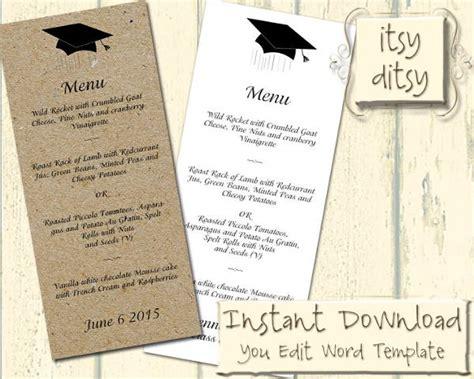 5 Graduation Party Menu Templates Designs Templates Free Premium Templates Graduation Dinner Menu Templates