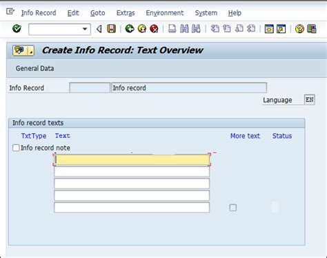 Info Records Sap Mm Purchase Info Record