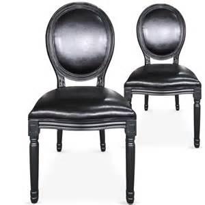 chaises m 233 daillon bois noir assise simili noir